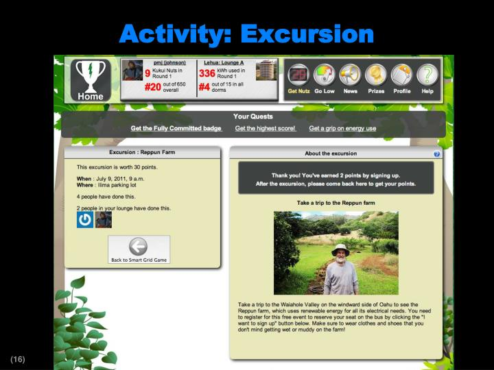 Activity: Excursion