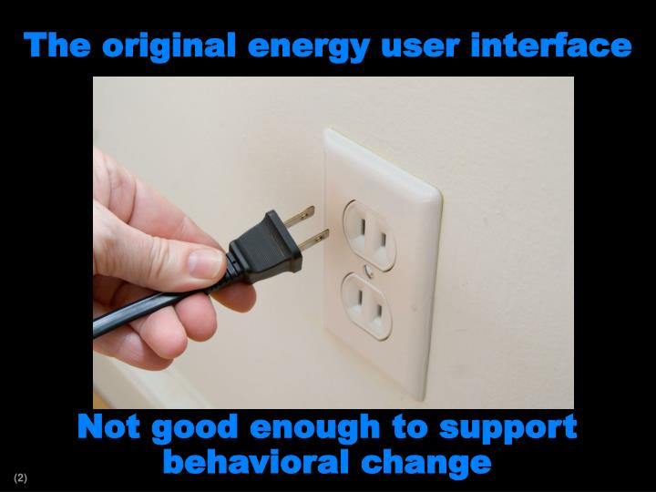 The original energy user interface