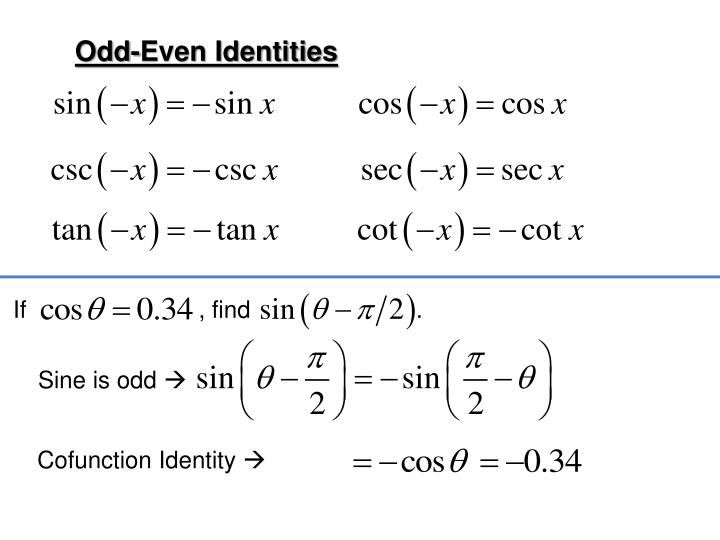 Odd-Even Identities