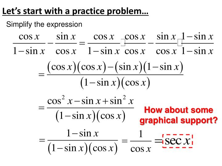 Let's start with a practice problem…