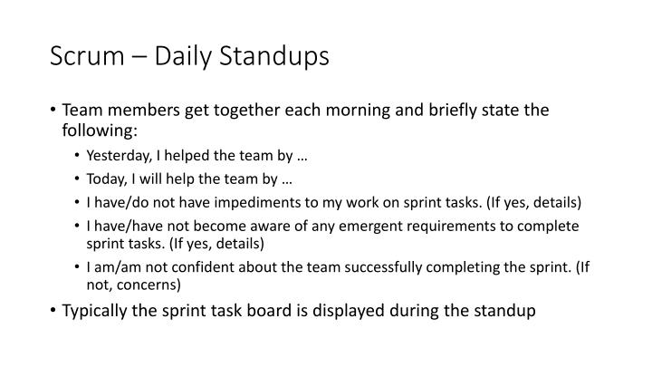 Scrum – Daily