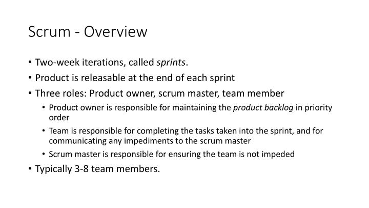 Scrum - Overview