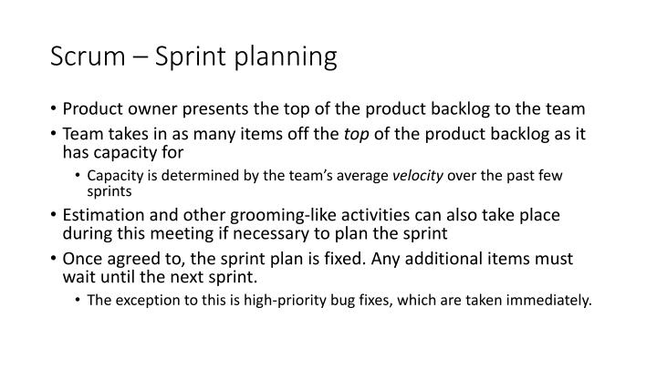 Scrum – Sprint planning