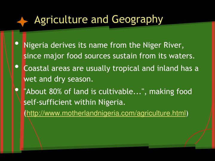 Agriculture and Geography