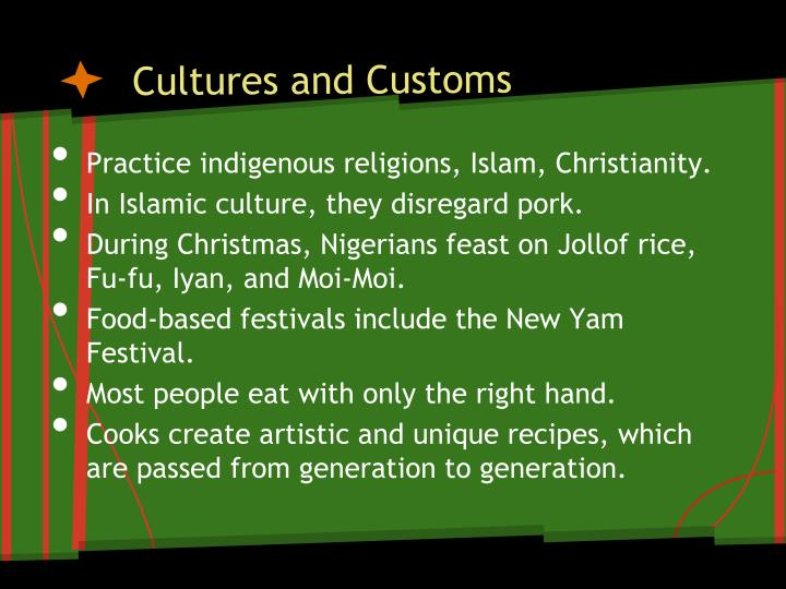 Cultures and Customs