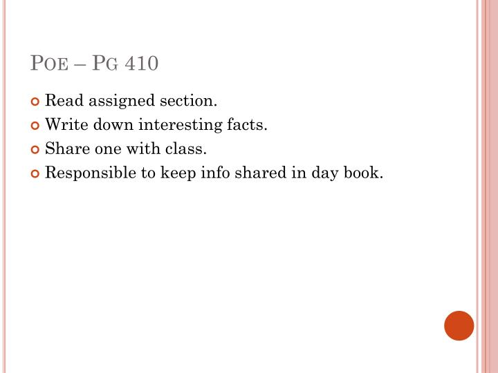 Poe – Pg 410
