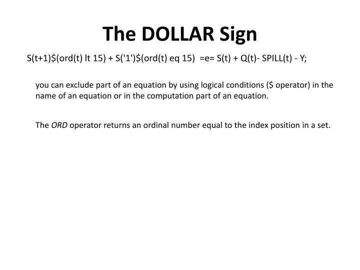 The DOLLAR Sign