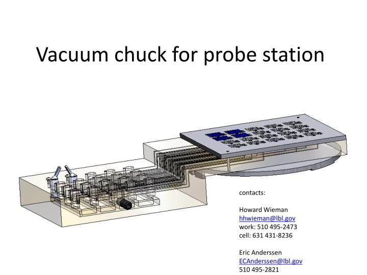 Vacuum chuck for probe station