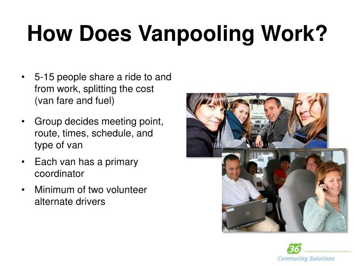 How Does Vanpooling Work?