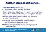 another common deficiency
