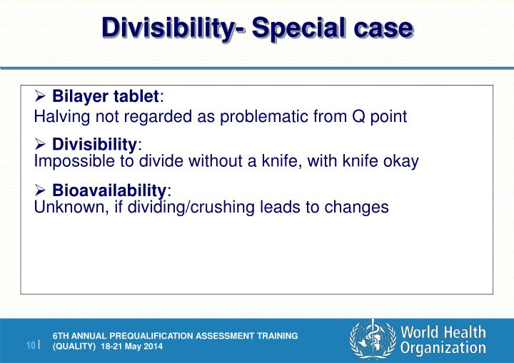 Divisibility- Special case
