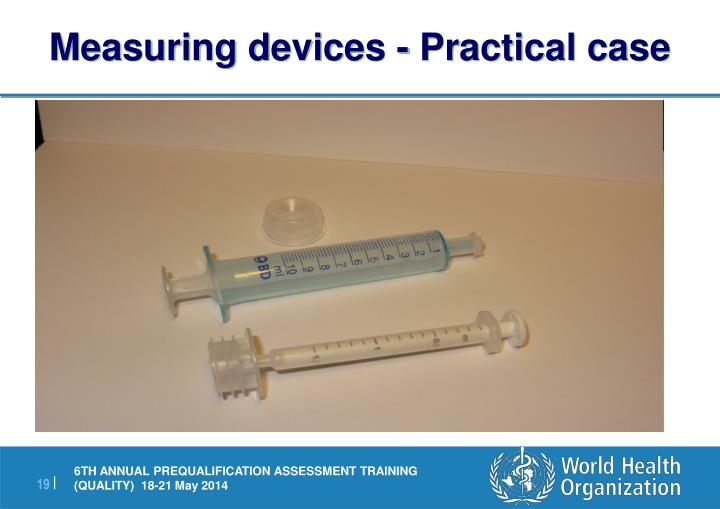 Measuring devices - Practical case