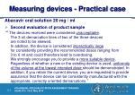 measuring devices practical case8