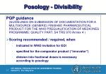 posology divisibility