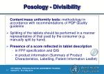 posology divisibility1
