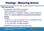 posology measuring devices