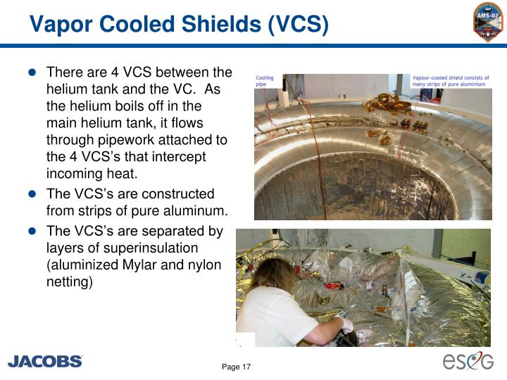Vapor Cooled Shields (VCS)