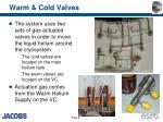 warm cold valves