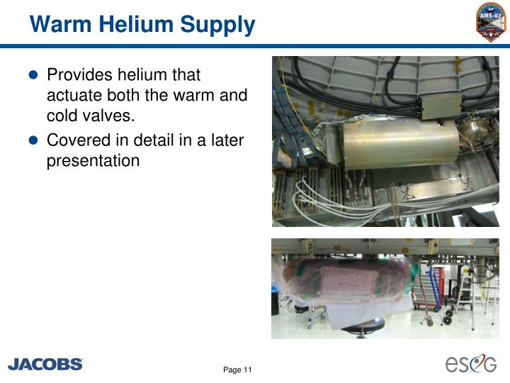Warm Helium Supply
