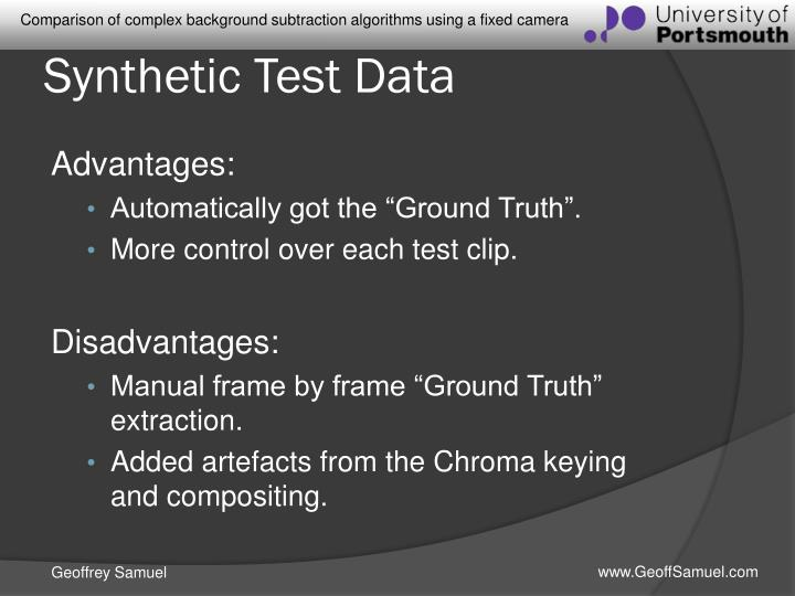 Synthetic Test Data