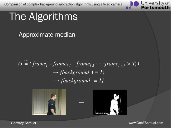 The Algorithms