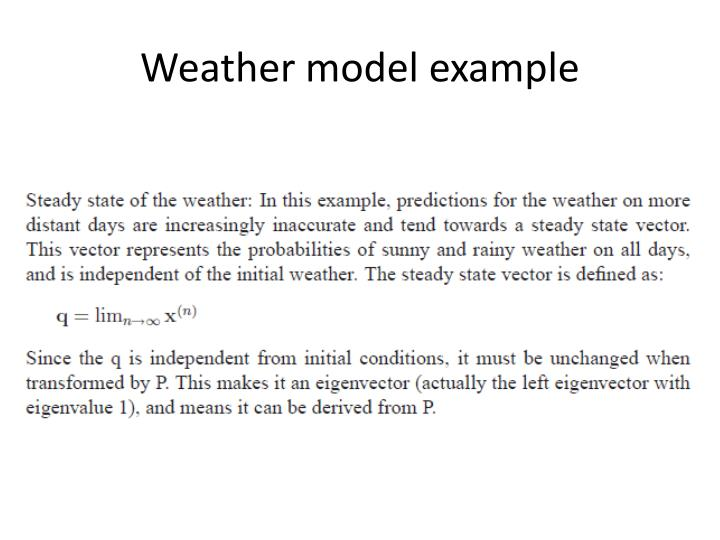 Weather model example