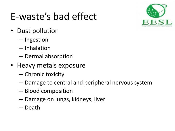 E waste s bad effect