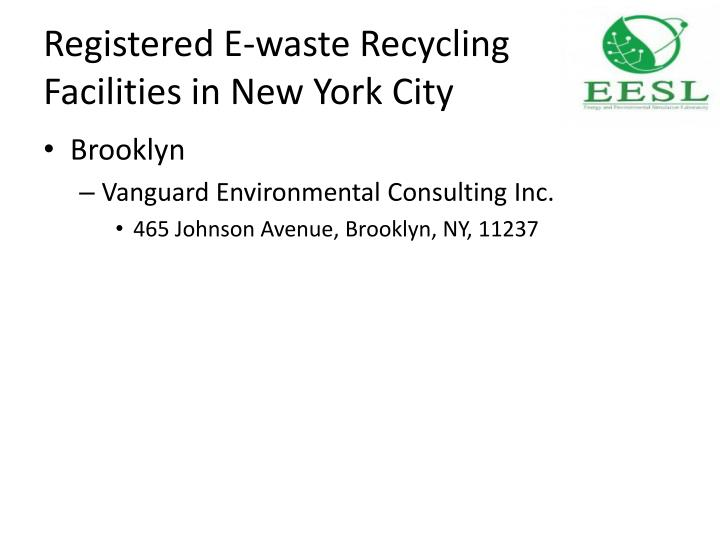 Registered E-waste Recycling