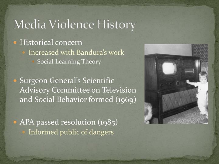 Media Violence History