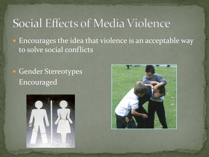 Social Effects of Media Violence