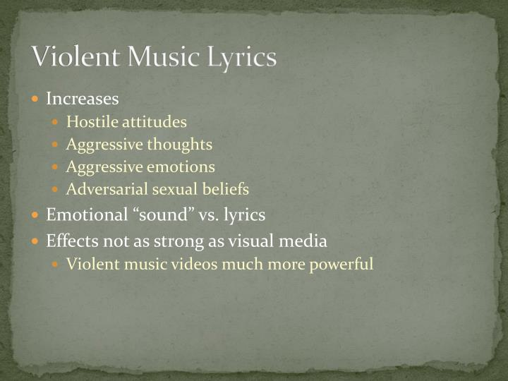 Violent Music Lyrics