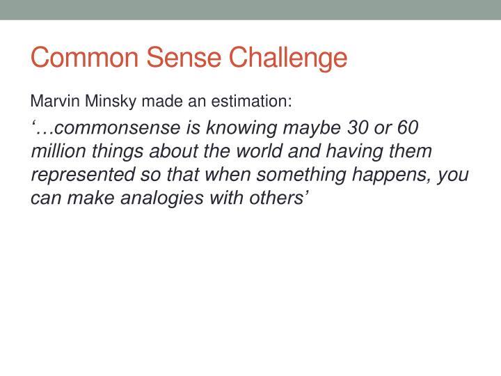 Common Sense Challenge
