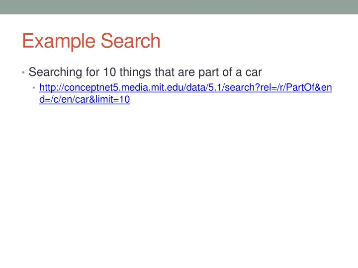 Example Search