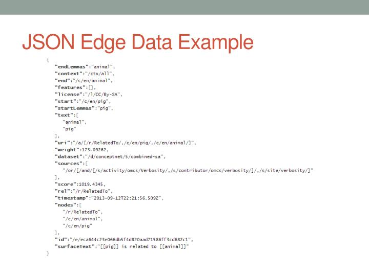 JSON Edge Data Example