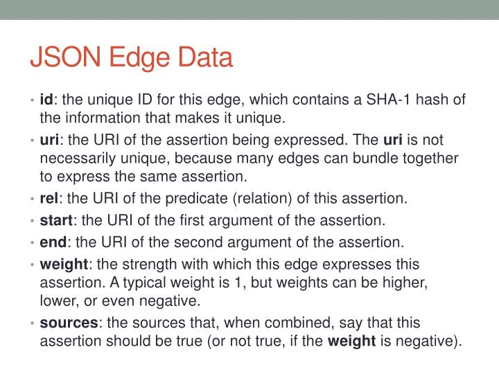 JSON Edge Data