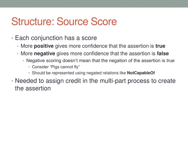 Structure: Source Score