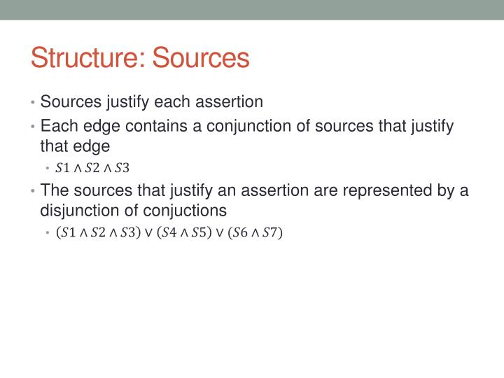 Structure: Sources
