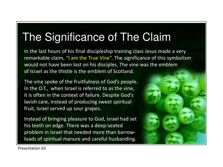 The Significance of The Claim