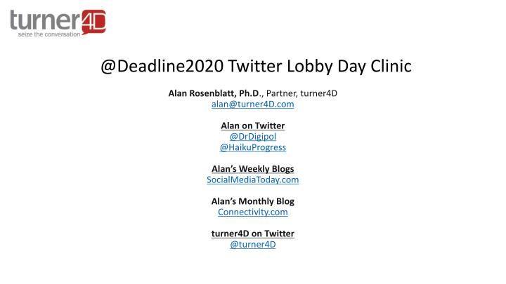 @deadline2020 twitter lobby day clinic
