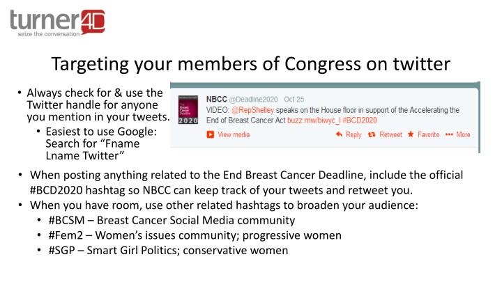 Targeting your members of Congress on twitter