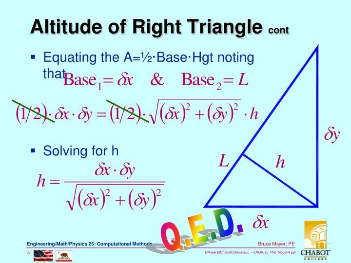 Altitude of Right Triangle