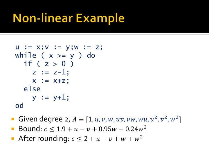 Non-linear Example