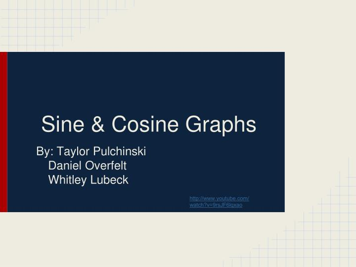 Sine cosine graphs