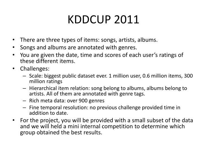 KDDCUP 2011