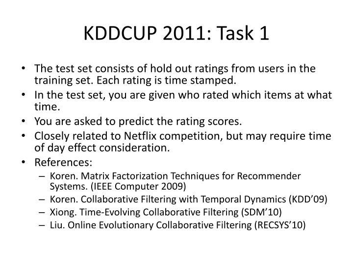 KDDCUP 2011: Task 1