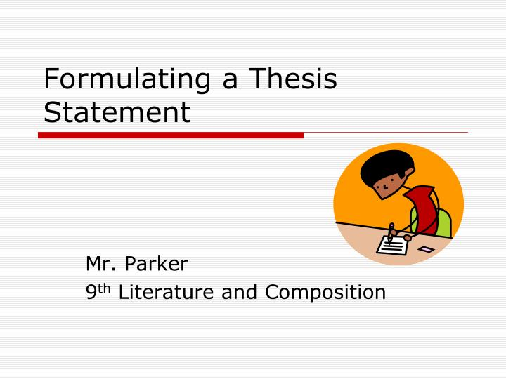 rules for writing thesis statements