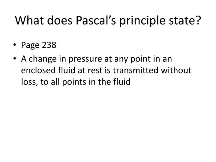 What does pascal s principle state
