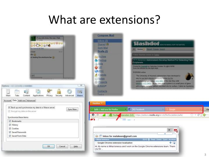 What are extensions