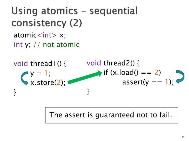 Using atomics – sequential