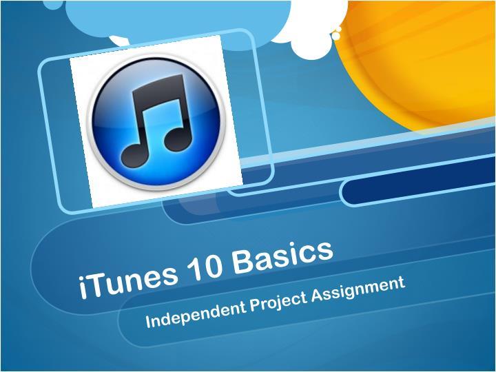 iTunes 10 Basics